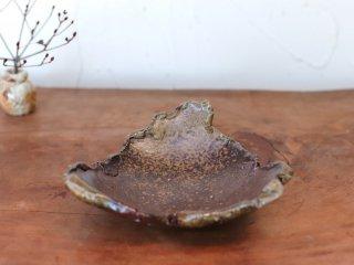 備前焼 ちぎり皿(幅約13cm)