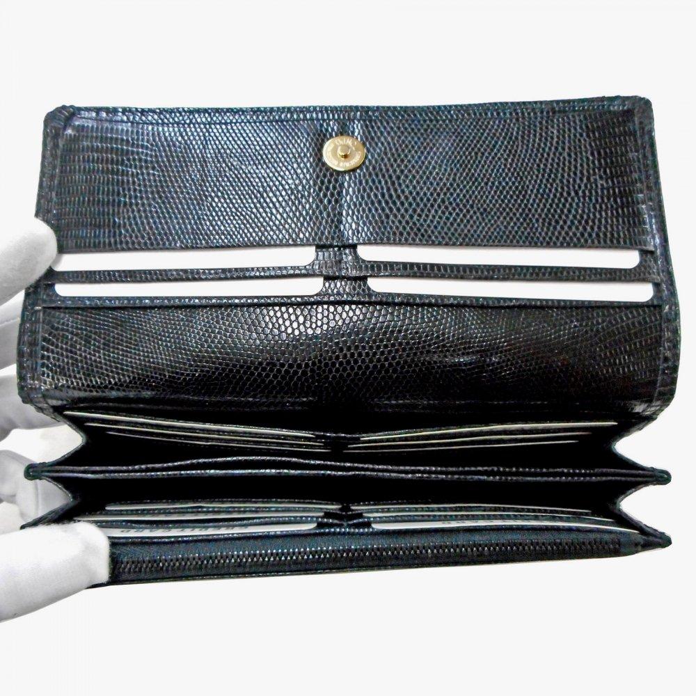 ead5fafae754 長財布/レディースタイプ オールリザード・ブラック