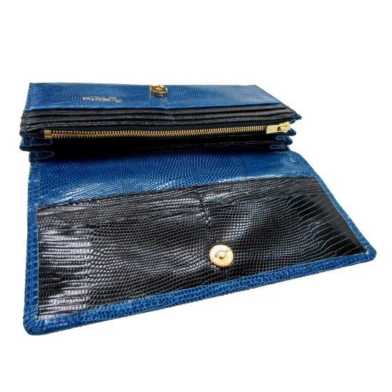 c2502ac930dc 長財布/レディースタイプ オールリザード・ブルー