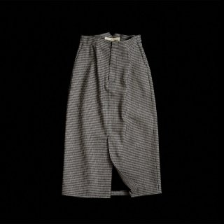 HOUNDS TOOTH LINEN SKIRT