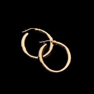 LAVER SILVER HOOP EARRING (Gold S)