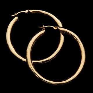 <追加予約>LAVER SILVER HOOP EARRING (Gold L)