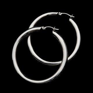 LAVER SILVER HOOP EARRING (Silver L)