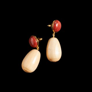 SOPHIE MONET THE RED EGG EARRINGS