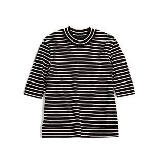 <WEB先行予約>HIGH NECK BORDER TEE