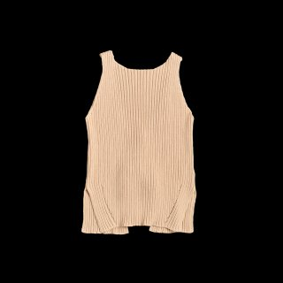 BACK RIBBON SLEEVELESS KNIT