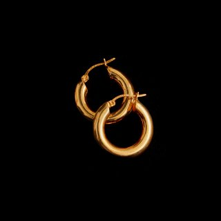 LAVER SILVER HOOP EARRING (Gold XS)