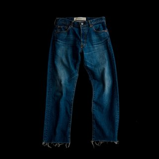 STRAIGHT CUT-OFF DENIM
