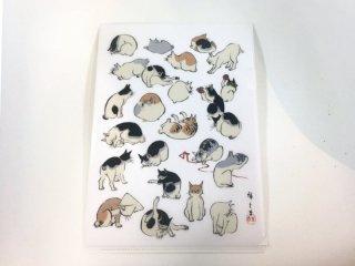 クリアファイル A4 歌川広重*浮世画譜 猫