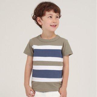 FUSEGU/Tシャツ・天竺切り替えボーダー