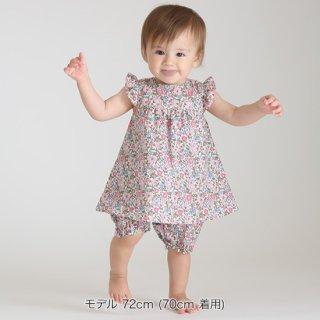 FUSEGU/ロンパース・袖フリル花柄