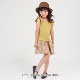 FUSEGU/ワンピ・チョークストライプ切り替え