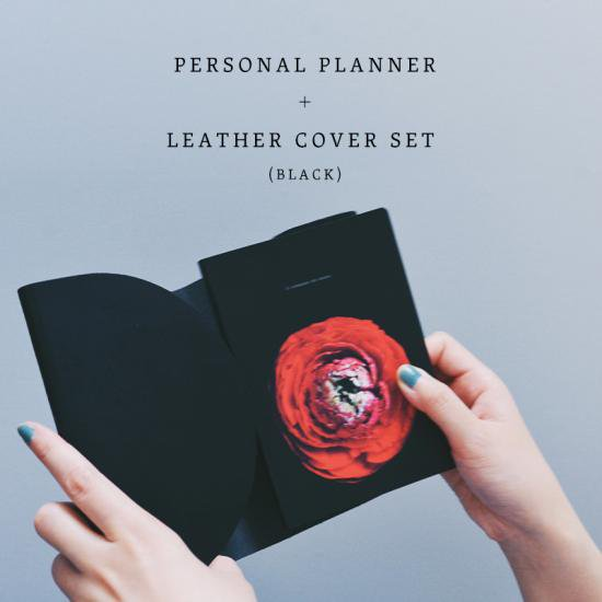 [ original product ] MY PERSONAL PLANNER + LEATHER COVER SET (BLACK)