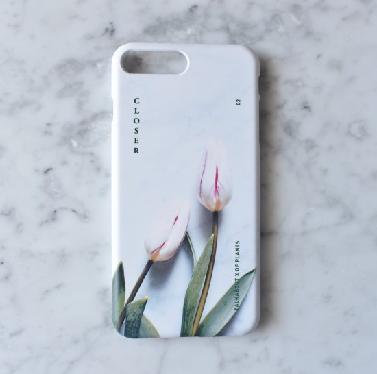 iPhone 7plus/8plus - CLOSER white tulip phone case(TALKABOUT x OF PLANTS)
