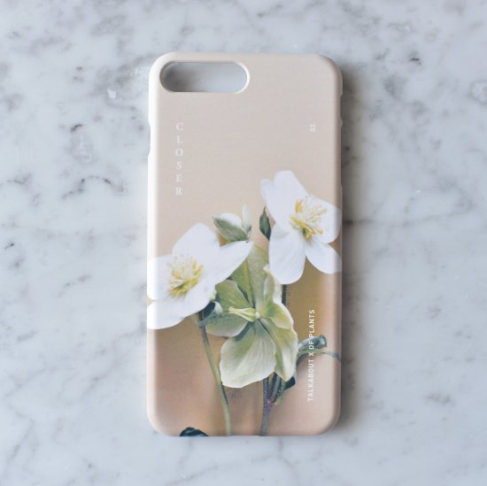 iPhone 7plus / 8plus - CLOSER helleborus phone case(TALKABOUT x OF PLANTS)
