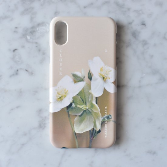iPhone X - helleborus phone case(TALKABOUT x OF PLANTS)