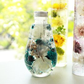 ハーバリウム専用オイル、ボトル、デザインシール【透明つや消し】資材セット:雫