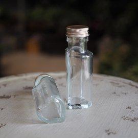 細口ガラスボトルハート:6本セット