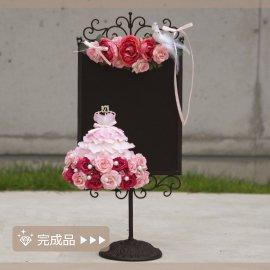 完成品●小さなドレスのスタンドボード