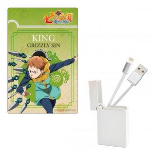 七つの大罪 戒めの復活 BOX収納型USBケーブル【キング】 iPhone用
