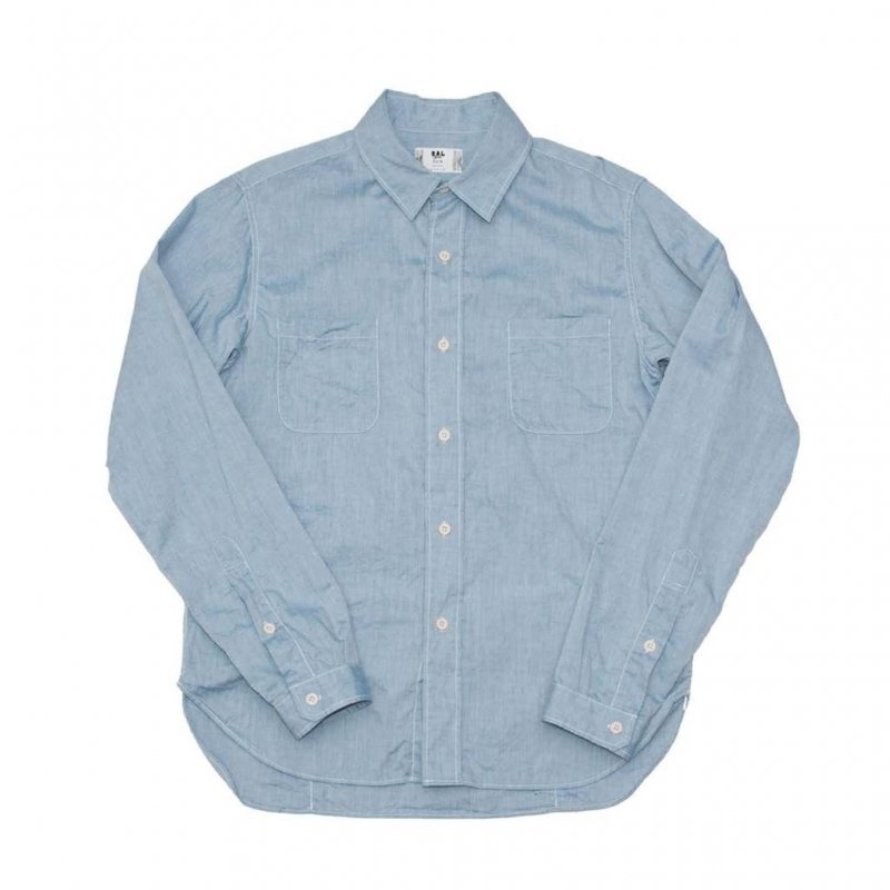 【ral/ラル】Player Short Sleeve Shirt Chambray