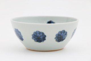 染付花並べ 丸小鉢