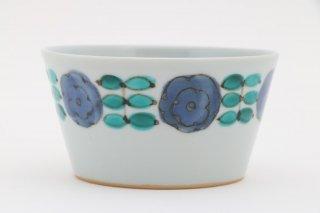 色絵花並べ小鉢