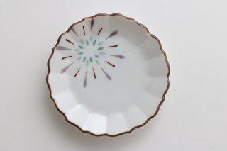 まめ皿 花火 口サビ(紫)