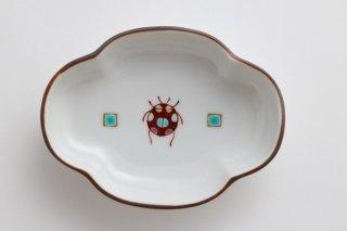 小皿(てんとうむし) 青