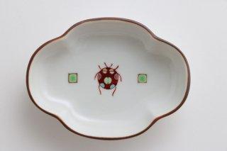 小皿(てんとうむし) 緑