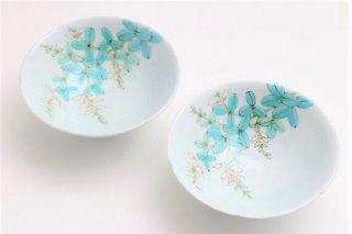 白萩文輪花鉢(2ヶ組セット)