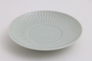 しのぎ4寸皿(青)