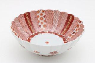 赤絵 かくれんぼ文 菓子鉢