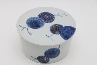 フタ付5寸鉢 菊
