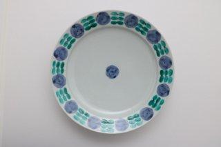 色絵花並べ7.5寸皿