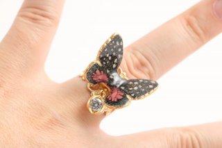 立体陶製 蝶 指環 B
