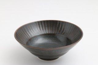 しのぎ 丸小鉢 (黒)