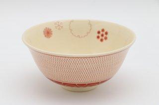 茶碗 赤絵雪華紋