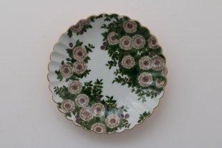 菊皿4寸 「ヒメイワダレソウのある庭」
