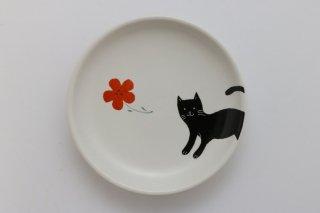 丸小皿(ねこ)