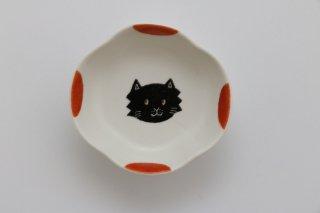 豆豆皿(ねこ・赤)