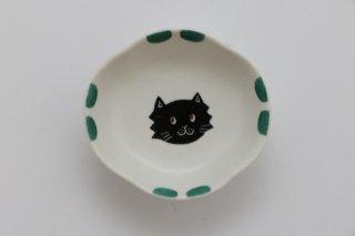 豆豆皿(ねこ・緑)