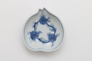 菊花 桃型小皿