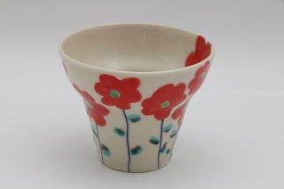 フリーカップ 赤い花