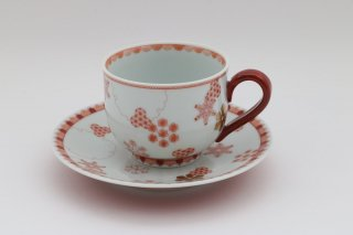碗皿 赤絵雪華紋
