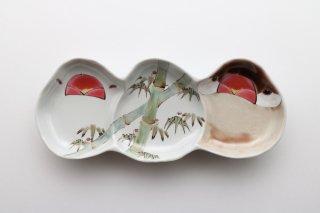 文鳥型皿 3連 竹