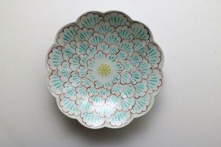 牡丹文 輪花皿7寸皿