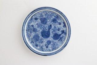 ヒョウタンブドウ五寸皿