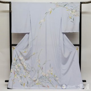 加賀友禅 訪問着 吉田昌二「桔梗に松」