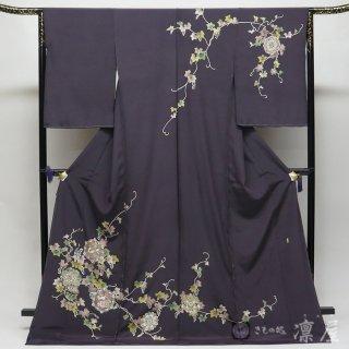 加賀友禅 訪問着 金丸修一「正倉院山葡萄鏡」